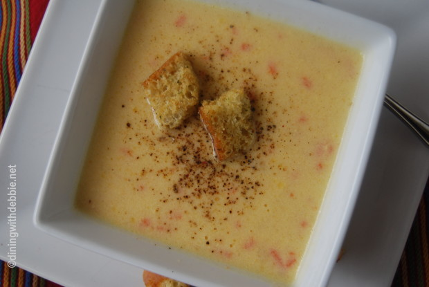 Barleycorn's Cheese Soup from diningwithdebbie.net