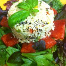 smoked salmon and orzo salad