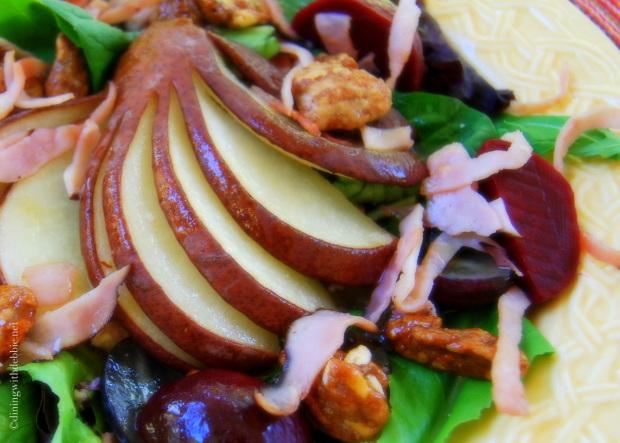 Roasted Pear Salad with Pear Vinaigrette