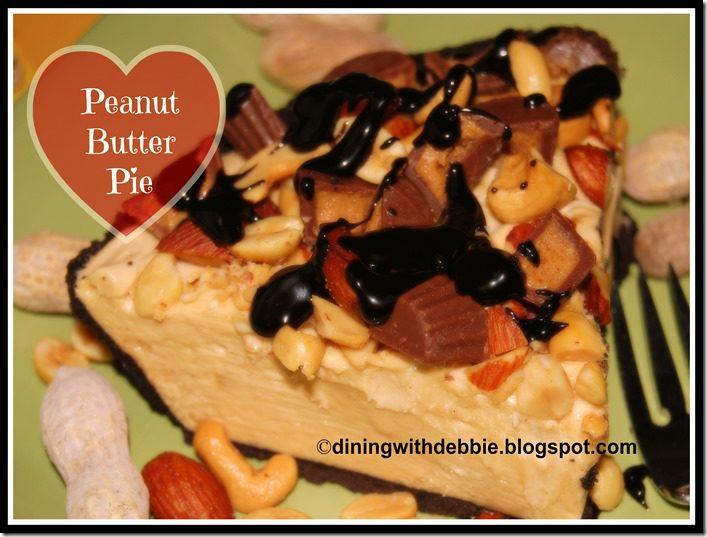 No Bake Peanut Butter Pie diningwithdebbie