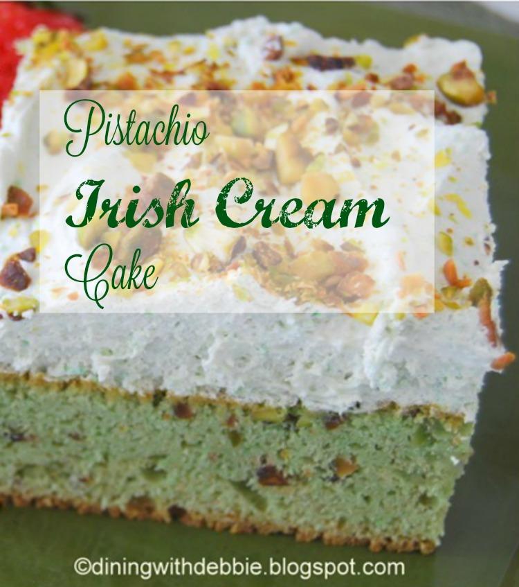 Pistachio Irish Cream Cake