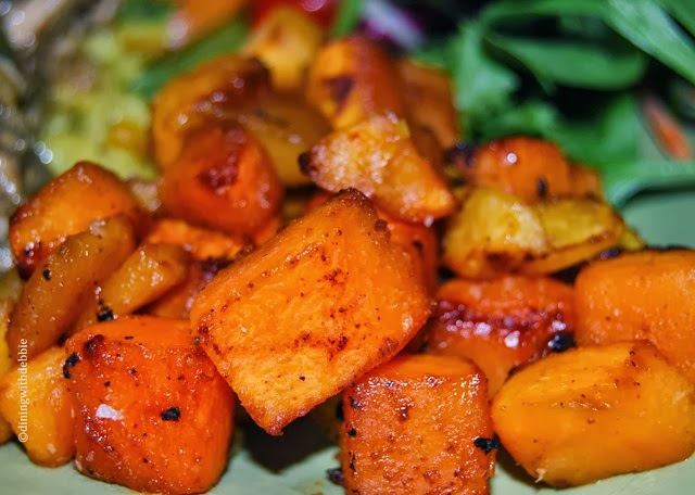 Dining With Debbie | Maple Glazed Roasted Butternut Squash - Dining ...