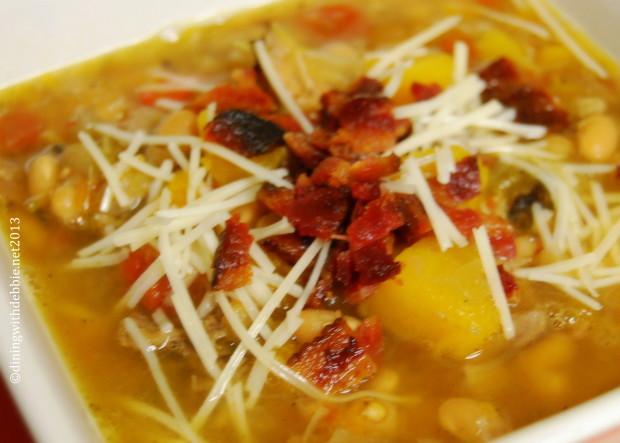 smoky tuscan white bean soup