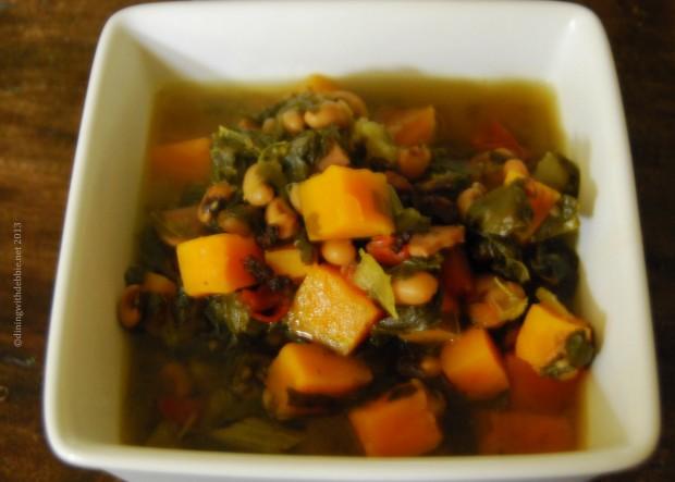 peas and turnip greens soup 2