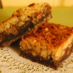 dark chocolate walnut bars