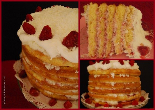 Coconut Cake with Raspberry Filling and Sour Cream Coconut Icing