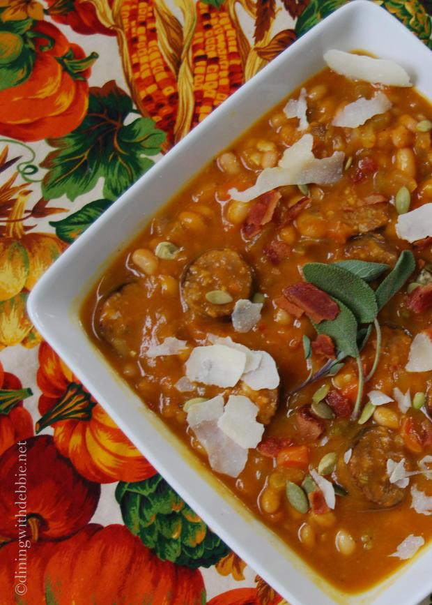 pumpkin navy bean sage itlaian sausage soup