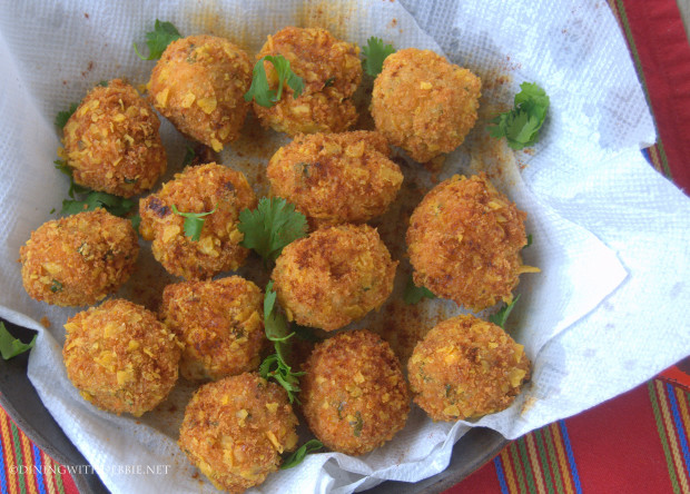 Corny Risotto Mexican Rice Ball Appetizers