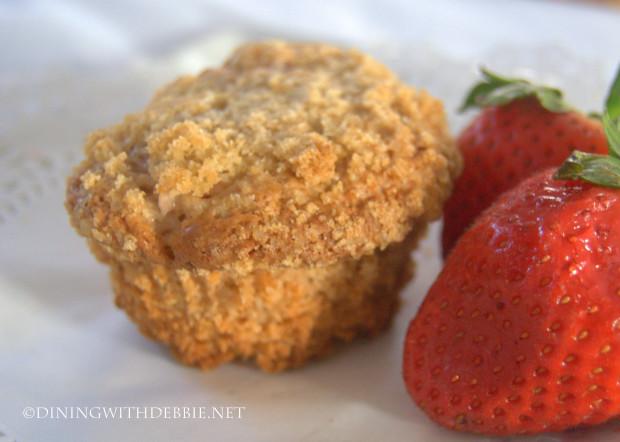 Strawberries and Cream Coffee Cake Muffins