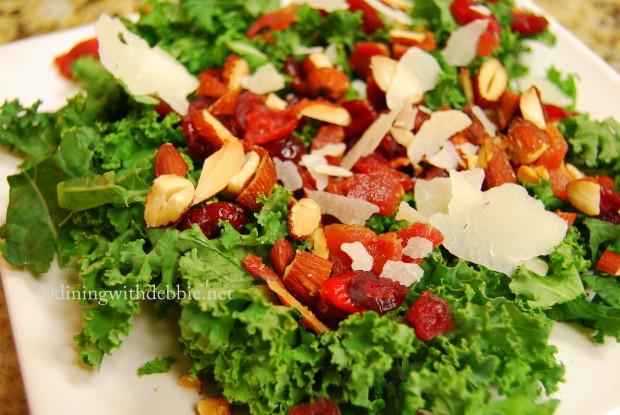 Kale Salad with Maple-Bacon Vinaigrette