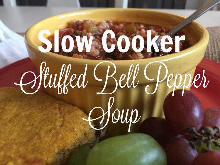 Slow Cooker Stuffed Bell Pepper Soup