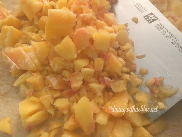 how to make peach puree from frozen peaches