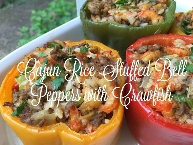 Cajun Rice Stuffed Bell Peppers {Riceland}