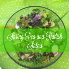 spring pea and radish salad feature