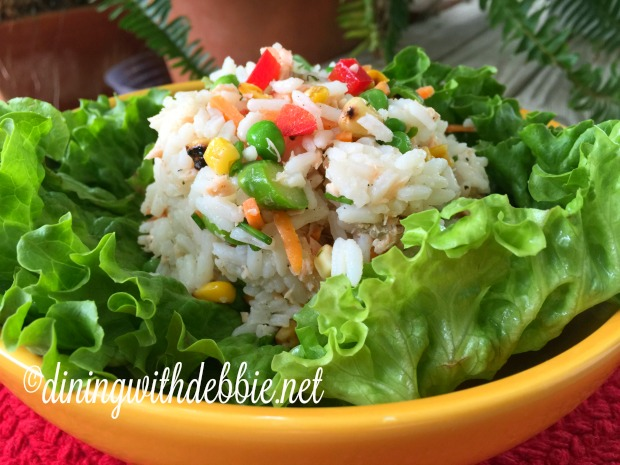 Spring Vegetable, Rice and Smoked Salmon Salad
