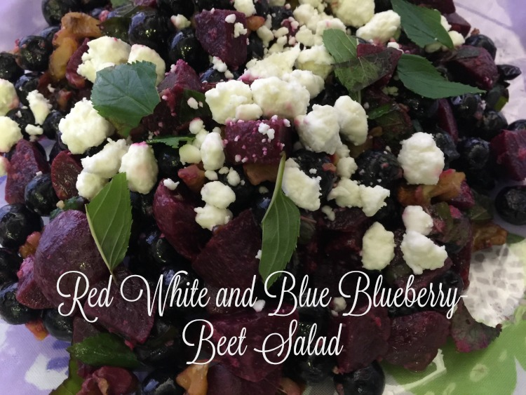 Red, White and Blue Blueberry and Beet Salad