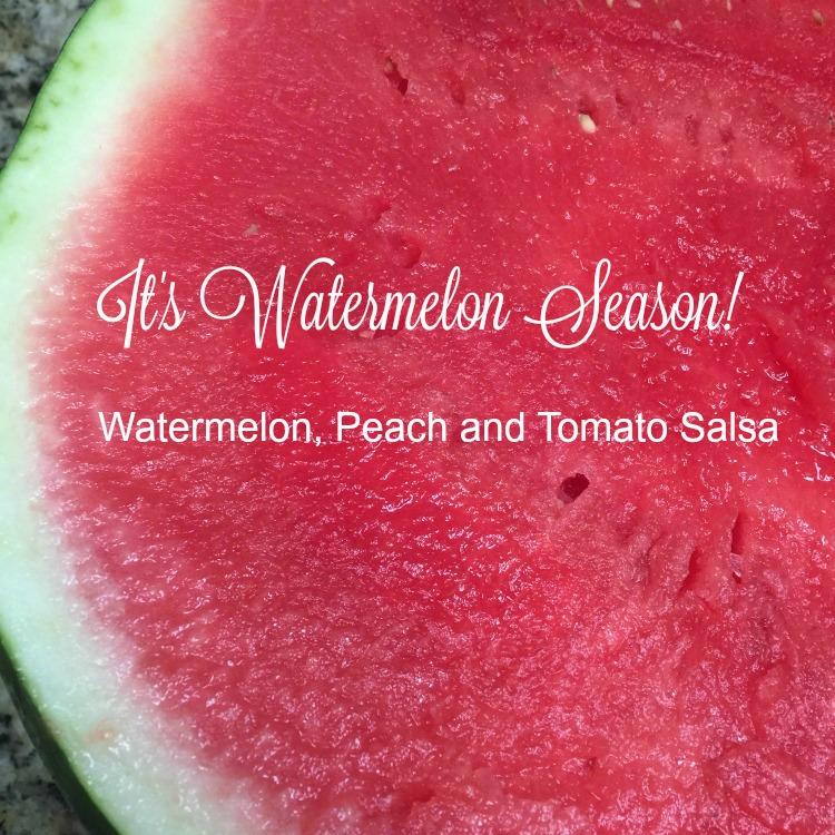 Jerk Chicken with Watermelon-Peach-Tomato Salsa