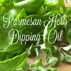 parmesan herb dipping oil feature