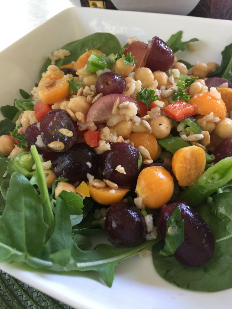 Brown Rice Salad with Gooseberries and Grapes