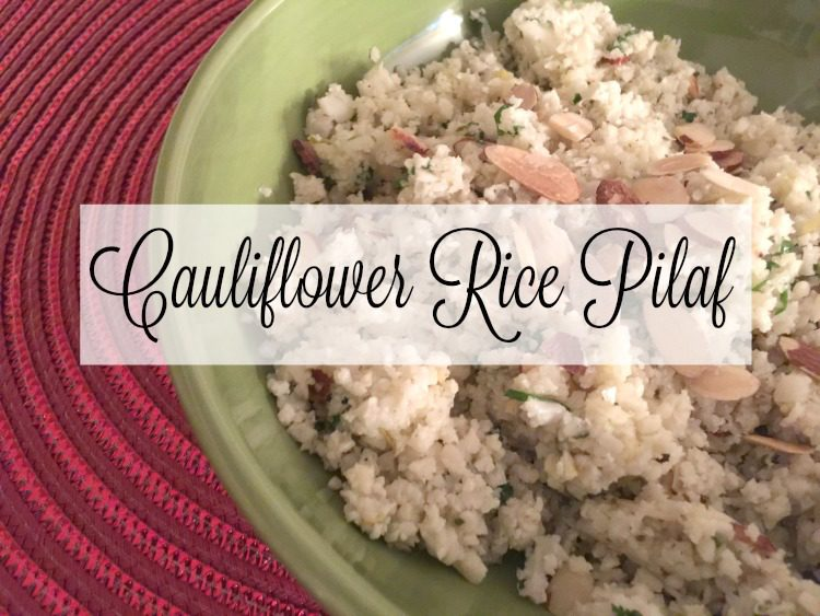 Cauliflower Rice Pilaf via diningwithdebbie.net