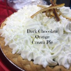 Dark Chocolate Orange Cream Pie diningwithdebbie.net
