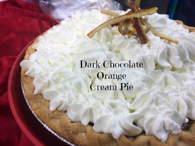 Dark Chocolate Orange Cream Pie