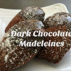 Dark Chocolate Madeleines with Orange Chocolate Ganache diningwithdebbie.net