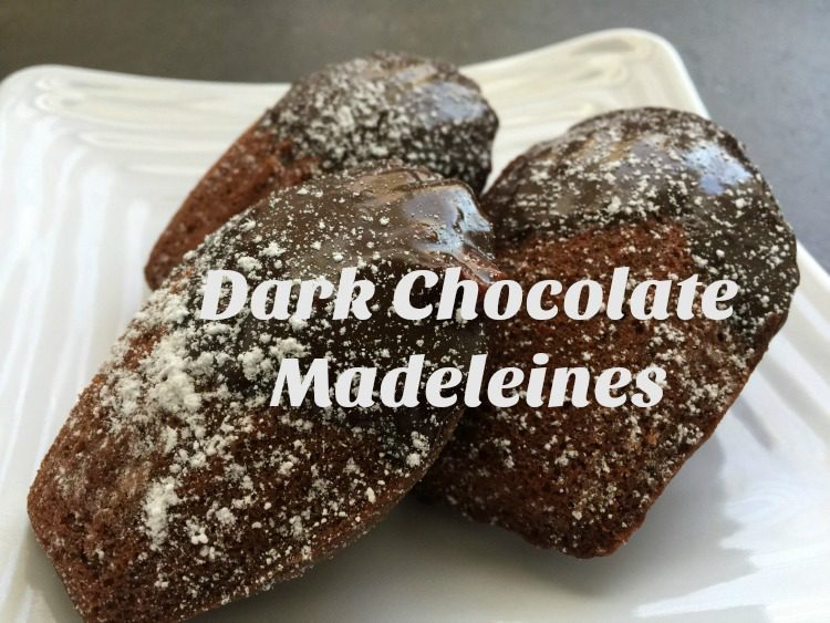 Dark Chocolate Madeleines with Orange Chocolate Ganache diningwithdebbie.net