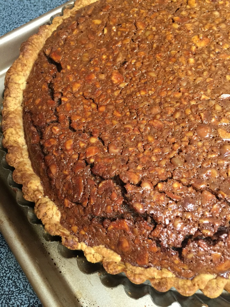Nutella Hazelnut Tart with sorghum in Hazelnut Crust diningwithdebbie.net