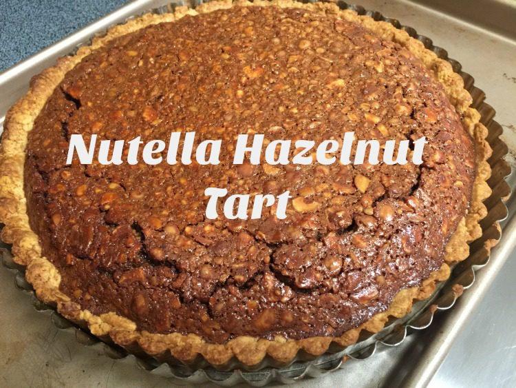 Nutella Hazelnut Tart in Hazelnut Crust diningwithdebbie.net