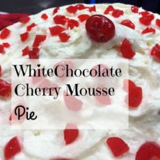 white chocolate cherry mousse pie feature diningwithdebbie.net
