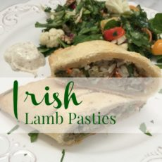 Irish Lamb Pasty plated diningwithdebbie.net