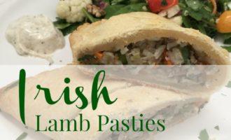 Irish Lamb Pasty plated diningwithdebbie.net