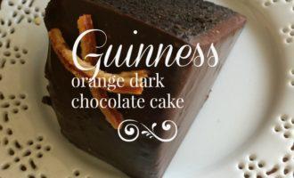 Guinness Orange Dark Chocolate Cake diningwithdebbie.net