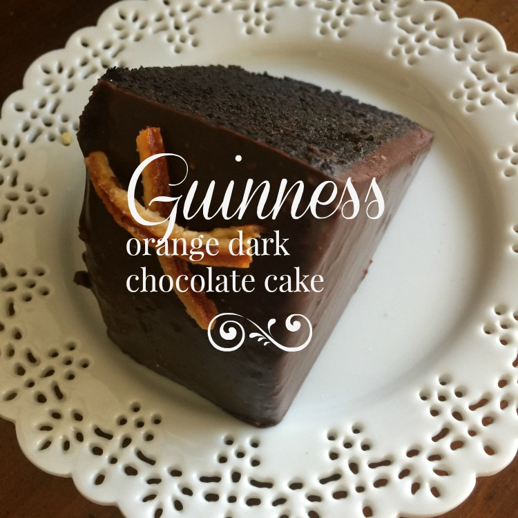 Guinness Orange Dark Chocolate Cake