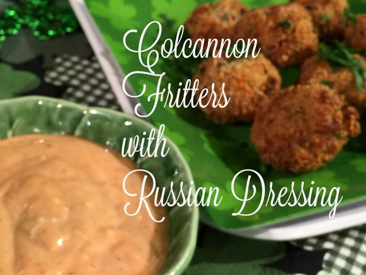 Colcannon Fritters with Russian Dressing diningwithdebbie.nt