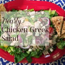 Hearty Chicken Greek Salad with Feta Vinaigrette