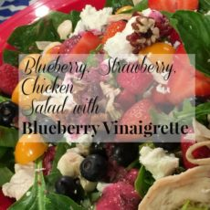 Blueberry Strawberry Chicken Salad with Blueberry Vinaigrette