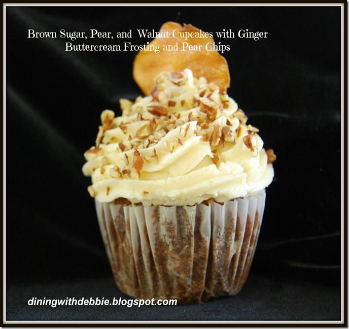 Brown Sugar, Pear and Walnut Cupcakes diningwithdebbie.net