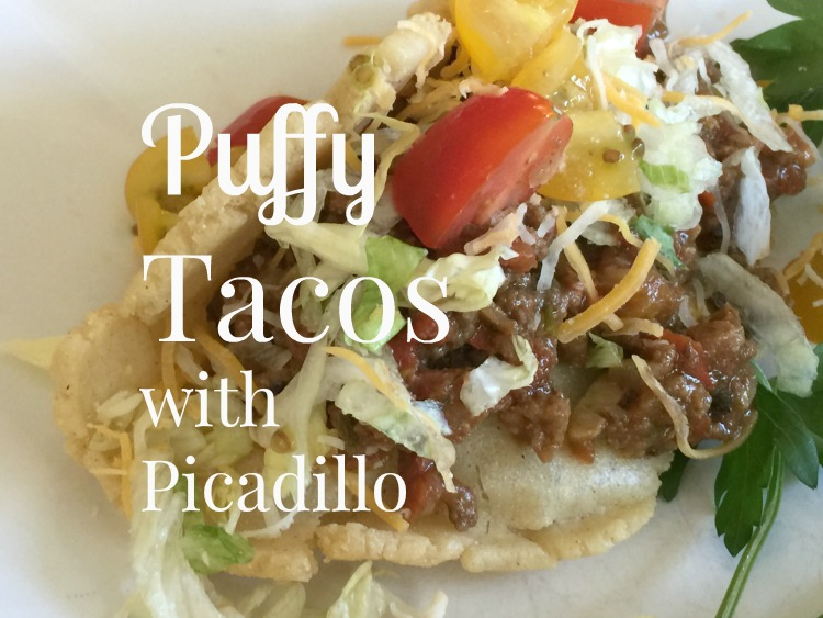 San Antonio Puffy Tacos with Picadillo