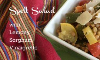 Spelt Salad with Lemony Sorghum Vinaigrette feature diningwithdebbie.net