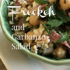 freekeh and garbanzo bean salad feature