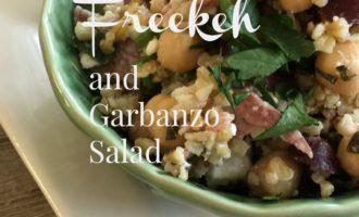 freekeh and garbanzo bean salad feature