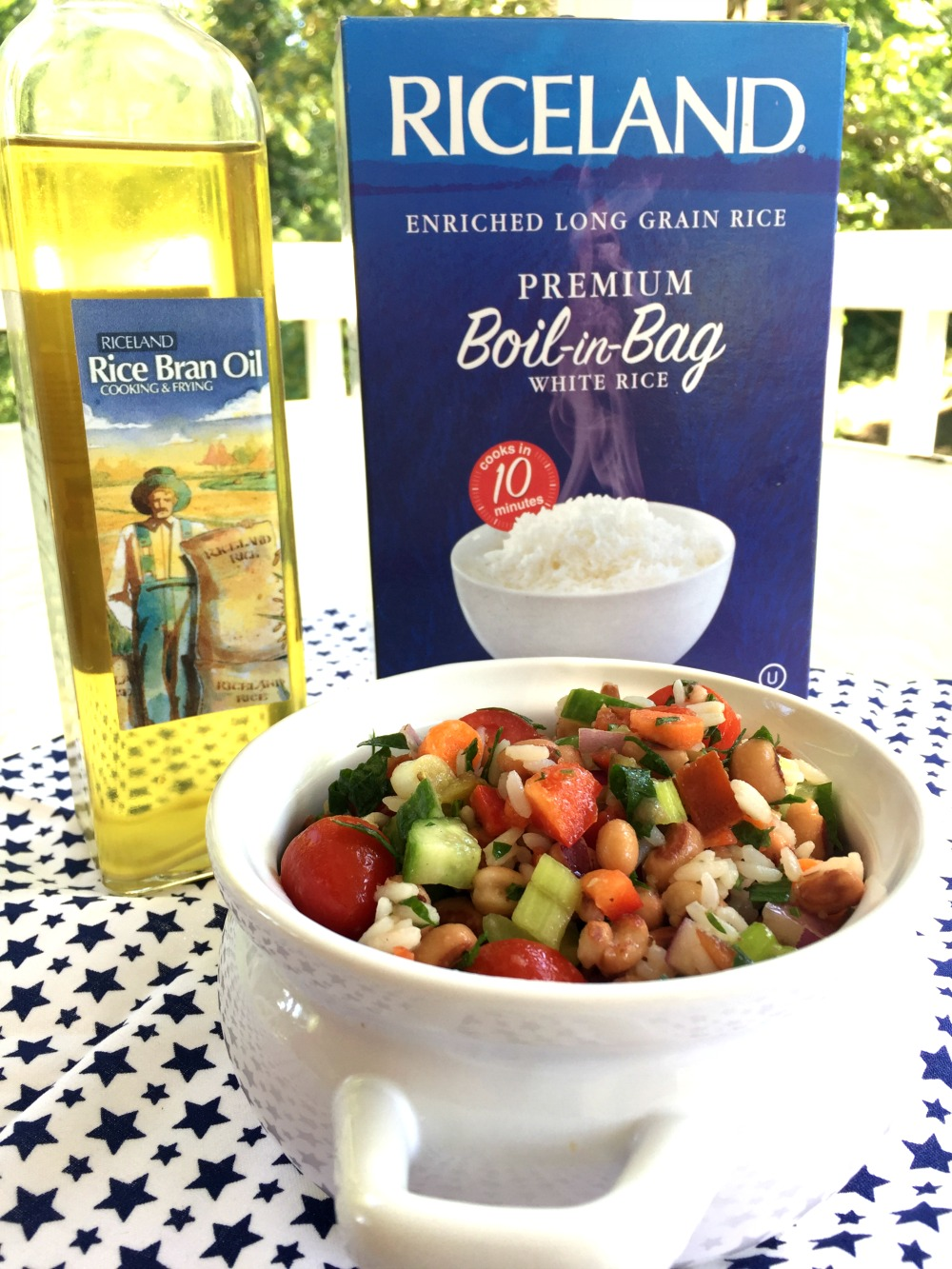 Riceland Pea and Rice Salad with oil and Boil-in-Bag diningwithdebbie.net