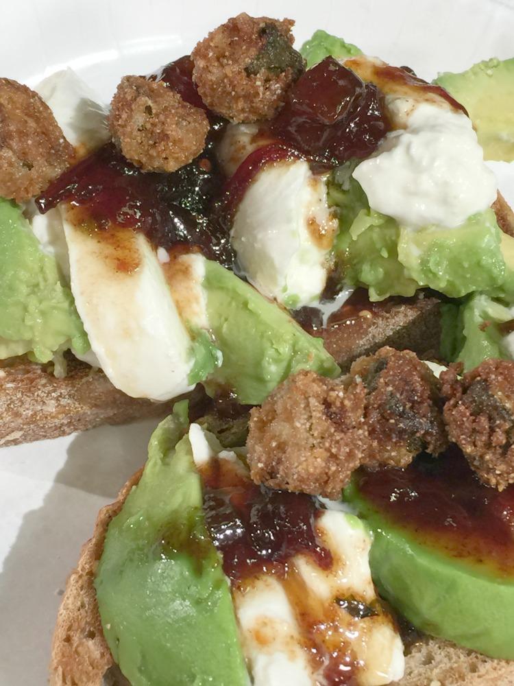 avocado burrata toast vertical diningwithdebbie.net