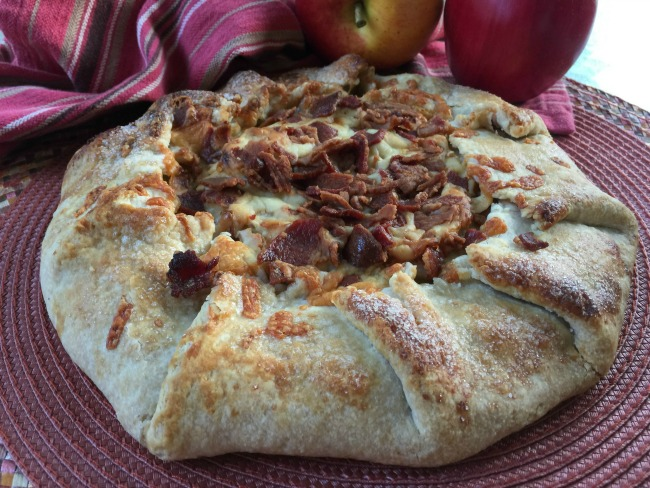 Apple, Bacon and Cheddar Galette | Dining With Debbie