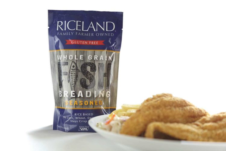 gluten free, whole grain, fish breading via riceland foods