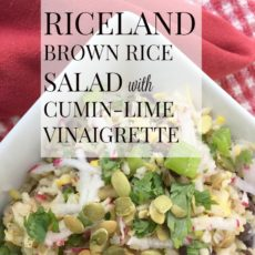 Riceland Brown Rice Salad with Cumin-Lime Vinaigrette