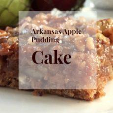 Arkansas Apple Pudding Cake via diningwithdebbie.net