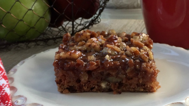 Arkansas Apple Pudding Cake horz via diningwithdebbie.net